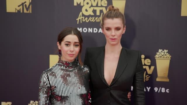 Cristin Milioti and Betty Gilpin at 2018 MTV Movie TV Awards Arrivals at Barker Hangar on June 16 2018 in Santa Monica California