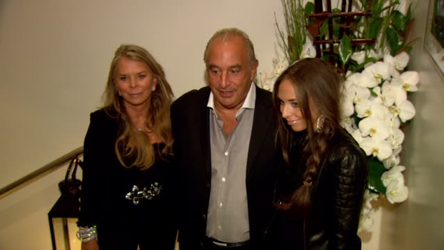 cristina green sir philip green and chloe green at the promise de grisogono by cheryl cole launch party at london england - chloe designer label stock videos and b-roll footage
