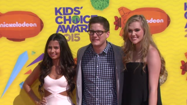 cristine prosperi, justin kelly, and karis camero at nickelodeon's 28th annual kids' choice awards at the forum on march 28, 2015 in inglewood,... - nickelodeon stock videos & royalty-free footage