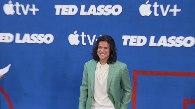 """cristo fernández at the apple's """"ted lasso"""" season 2 premiere - arrivals at pacific design center on july 15, 2021 in west hollywood, california. - west hollywood stock videos & royalty-free footage"""