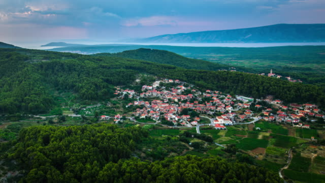 AERIAL: Croatia Landscape Island Hvar