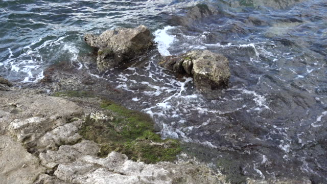croatia two rocks at low tide - low tide stock videos & royalty-free footage