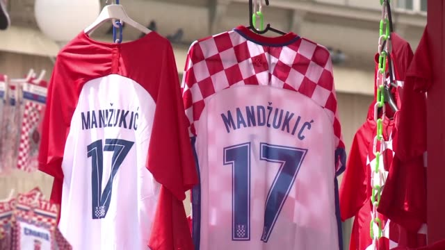 croatian fans who are eagerly awaiting their world cup semi final against england already see themselves in the final and would like revenge on... - semifinal round stock videos & royalty-free footage