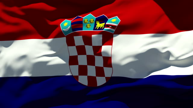 vidéos et rushes de drapeau croate - croatie