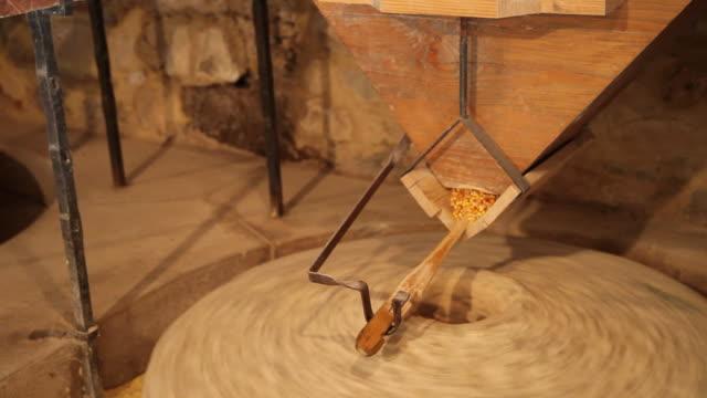 Croatian folklore museum, Old milstone to grind grain mill hydraulic, Roski Slap, Krka National Park