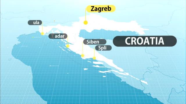 vídeos y material grabado en eventos de stock de mapa de croacia - cultura croata