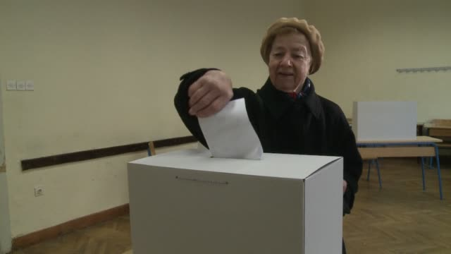 croatians voted on sunday in a controversial referendum that could outlaw same sex marriage in the mostly catholic country an issue that has split... - zagreb stock videos and b-roll footage