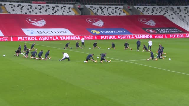 croatia's national fottbal team players attend a training session led by head coach zlatko dalic on november 10, 2020 in istanbul. turkey will host... - hungary stock videos & royalty-free footage