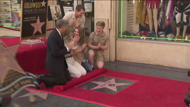 KTLA 'Crocodile Hunter' Steve Irwin Posthumously Receives Hollywood Walk of Fame Honor