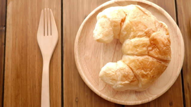 Croissant breakfast for eat