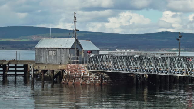 cromarty ferry terminal in cromarty firth scottish highlands - shack stock videos & royalty-free footage