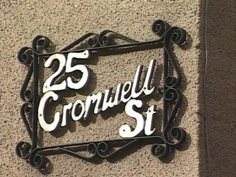 25 Cromwell Street where Fred and Rose West lived and buried the bodies of the women they murdered