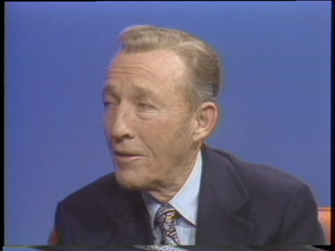 crooner bing crosby talks about his early career. - music or celebrities or fashion or film industry or film premiere or youth culture or novelty item or vacations stock videos & royalty-free footage