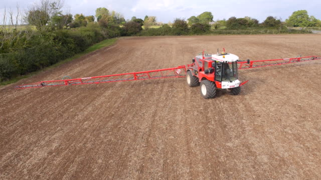 Crop Sprayer, Aerial View