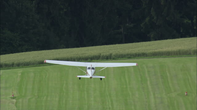 WS TS Crop sprayer taking off / Schwyz, Switzerland
