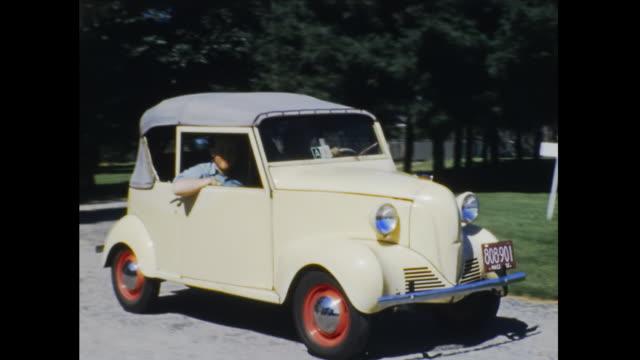 1941 crosley standard convertible sedan home movie - 1942 stock videos & royalty-free footage