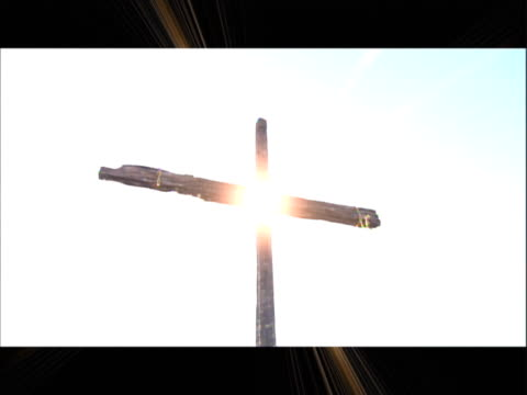 cross against a bright sky - resurrection religion stock videos & royalty-free footage