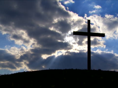 t/l cross against cloudy sky - ewigkeit stock videos & royalty-free footage