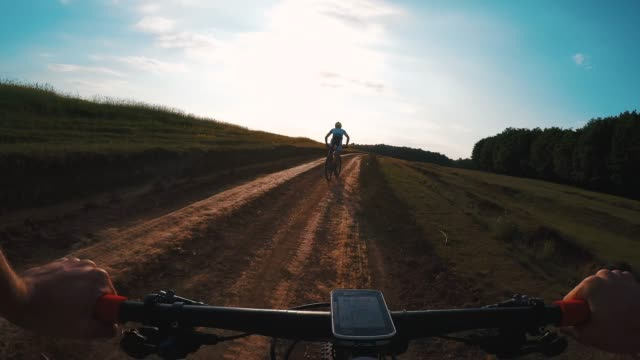 pov cross country cycling. - following moving activity stock videos & royalty-free footage