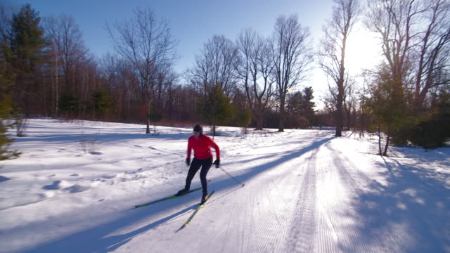 cross country skier - one mature woman only stock videos & royalty-free footage