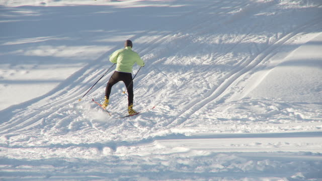cross country skiing 15 - nordic skiing event stock videos and b-roll footage