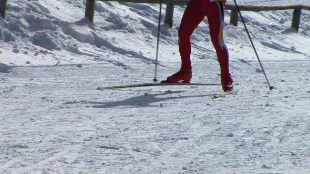 vídeos de stock, filmes e b-roll de hd: esqui cross-country - membro humano