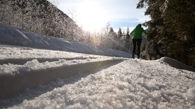 cross country skiing - nordic skiing event stock videos and b-roll footage