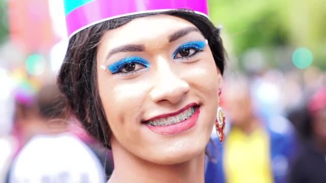 cross dressing man wearing like woman - intersex stock videos and b-roll footage