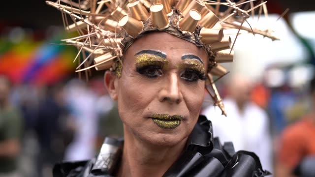 cross dressing man wearing like woman - drag queen stock videos and b-roll footage