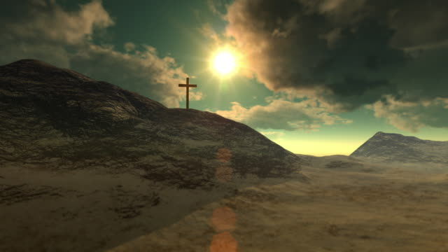 cross on calvary - religious cross stock videos and b-roll footage