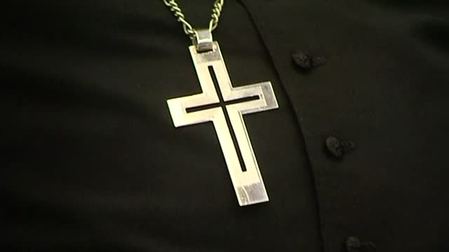 cross on chain - religious dress stock videos & royalty-free footage