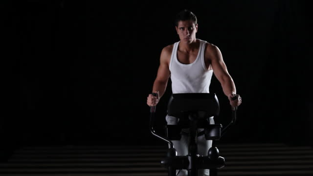 cross trainer exercise - cross trainer stock videos and b-roll footage