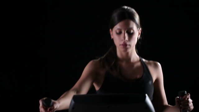 cross trainer exercise - cross trainer stock videos & royalty-free footage