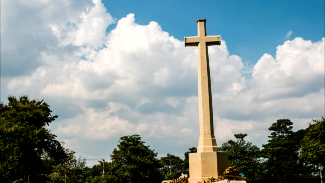 cross with timelapse clouds - resurrection religion stock videos & royalty-free footage