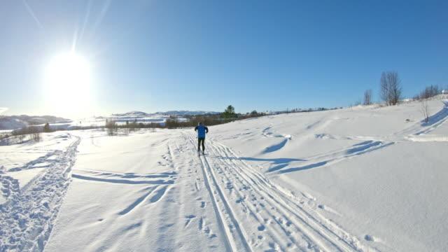 pov längdskidåkning i norge - längd bildbanksvideor och videomaterial från bakom kulisserna