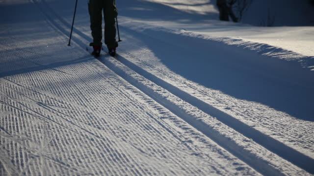 cross-country skiing tracks - längd bildbanksvideor och videomaterial från bakom kulisserna