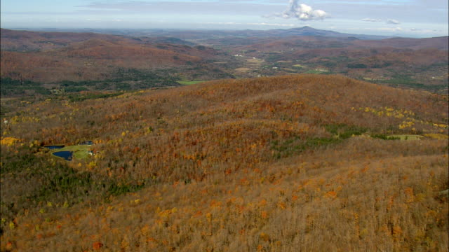crossing haystack mountain  - aerial view - vermont,  orleans county,  united states - haystack stock videos & royalty-free footage
