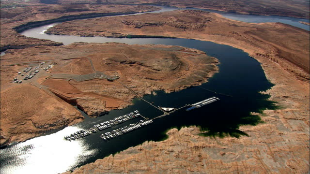 Crossing Into Arizona Towards Page  - Aerial View - Arizona,  Coconino County,  United States