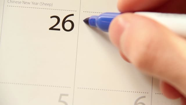 crossing off days on calendar with sharpie pen - cross stock videos & royalty-free footage