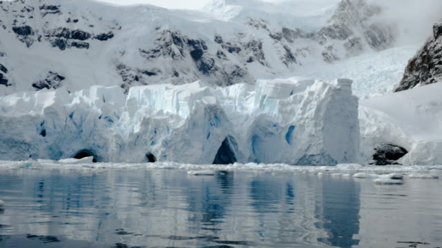 crossing paradise bay by boat, glacier close up - ice floe stock videos & royalty-free footage