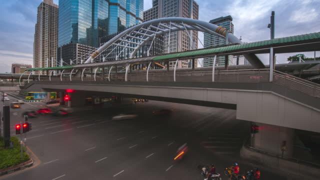 Crossing road in Bangkok