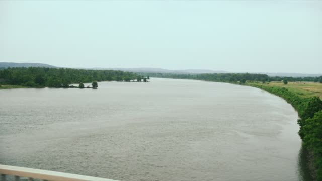 crossing the arkansas river at fort smith - arkansas stock videos & royalty-free footage