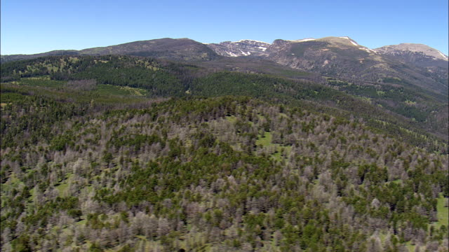 Crossing the Beaverhead Deerlodge National Forest  - Aerial View - Montana, Madison County, United States