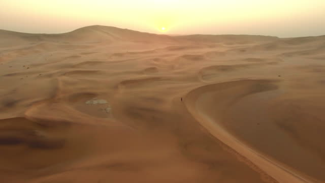 Crossing the vast desert sands