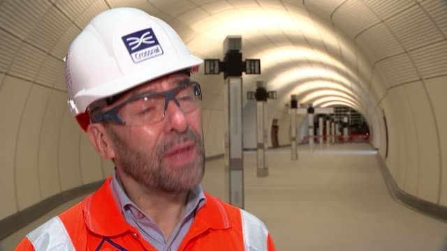 crossrail project could be put back again if testing doesn't go to plan; england: london: tottenham court road: int various shots of mark wild on... - employee stock videos & royalty-free footage