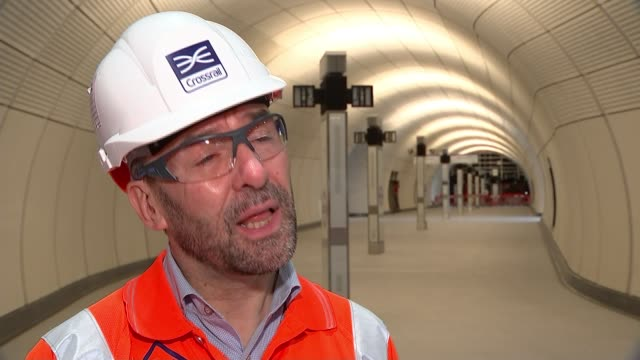 crossrail project could be put back again if testing doesn't go to plan; england: london: tottenham court road: int mark wild interview sot - tottenham court road stock videos & royalty-free footage