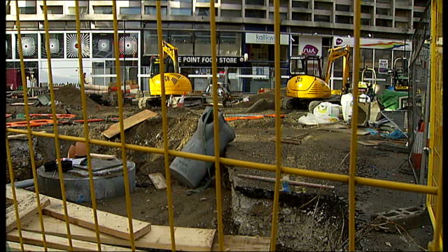 crossrail project receives funding from the corporation of london; lord andrew adonis interview sot ext various of construction work around tottenham... - tottenham court road stock videos & royalty-free footage