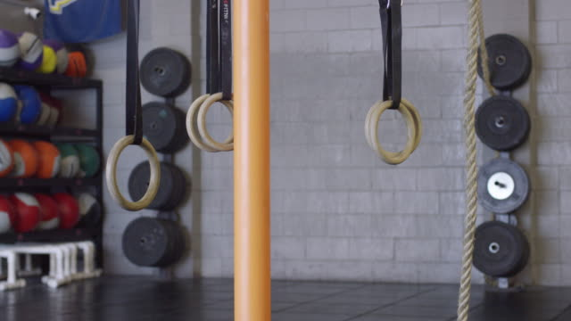 Cross-Training Equipment In an Empty Gym