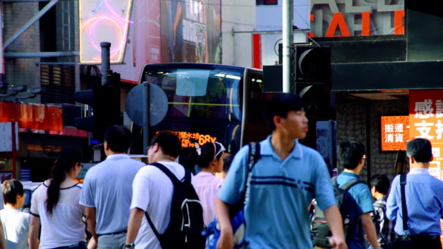 stockvideo's en b-roll-footage met crosswalk hongkong - markt