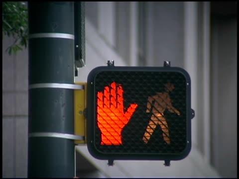 crosswalk sign - crosswalk sign stock videos & royalty-free footage
